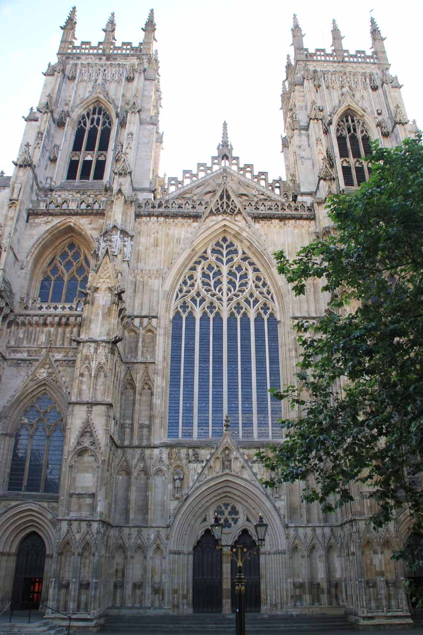 The main entrance to York Minster