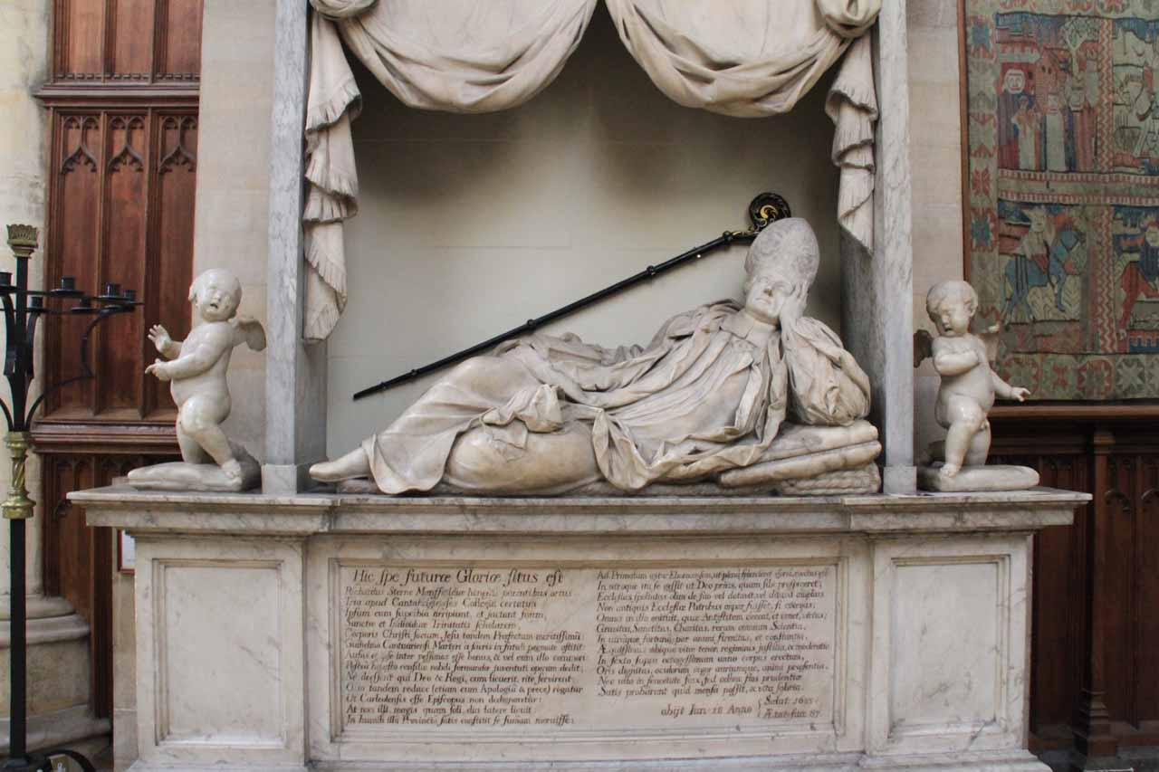 One of the more lavish memorials or tombs inside York Minster