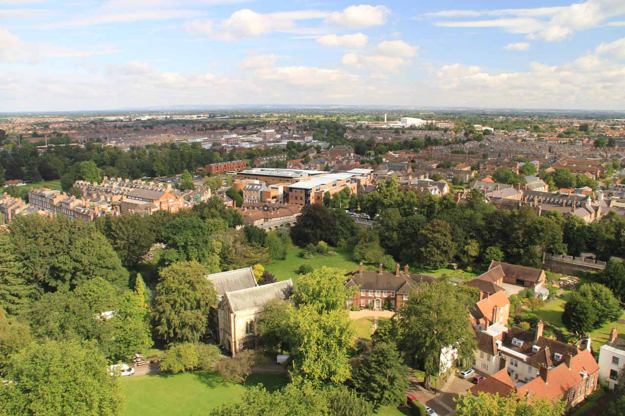 View from the top of York Minster