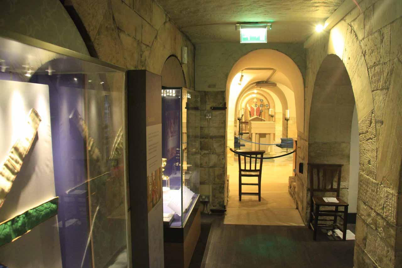 The undercroft of York Minster