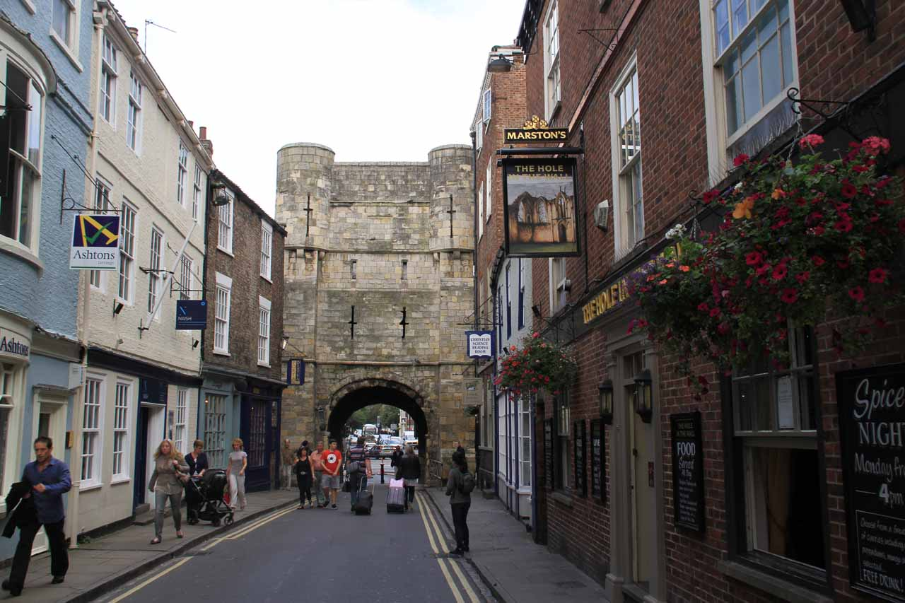 Walking around York looking for a way to get up to the ramparts