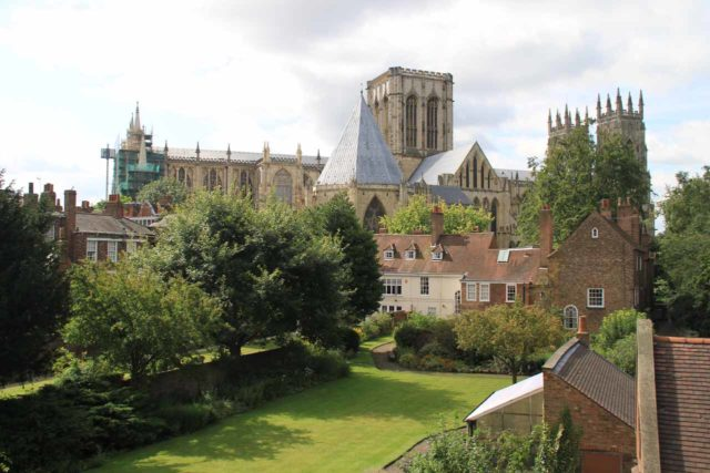 York_164_08152014 - Prior to visiting the Yorkshire Dales, we had spent some time in the charming former Viking town of York, which had features like the impressive York Minster (seen here from the town walls)