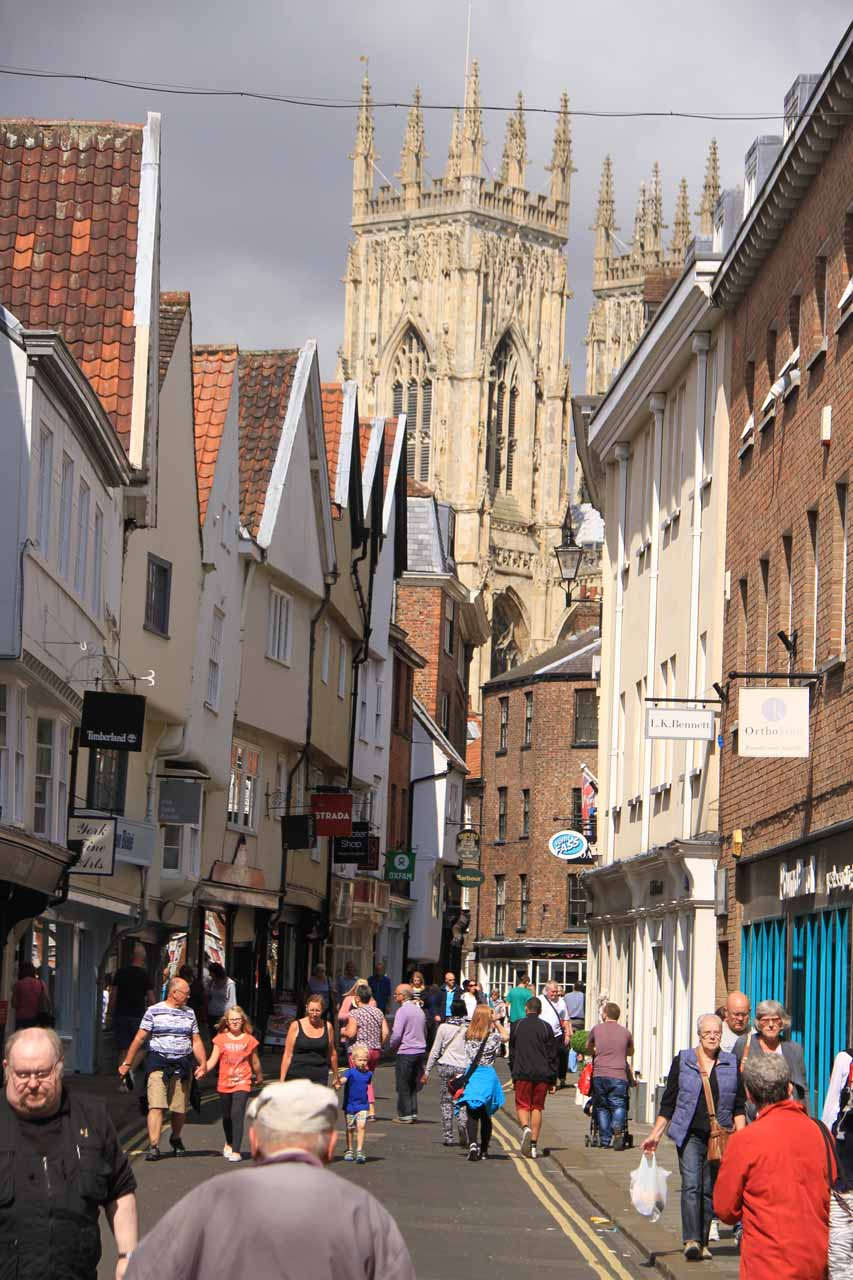 Meandering about the happening city centre of York