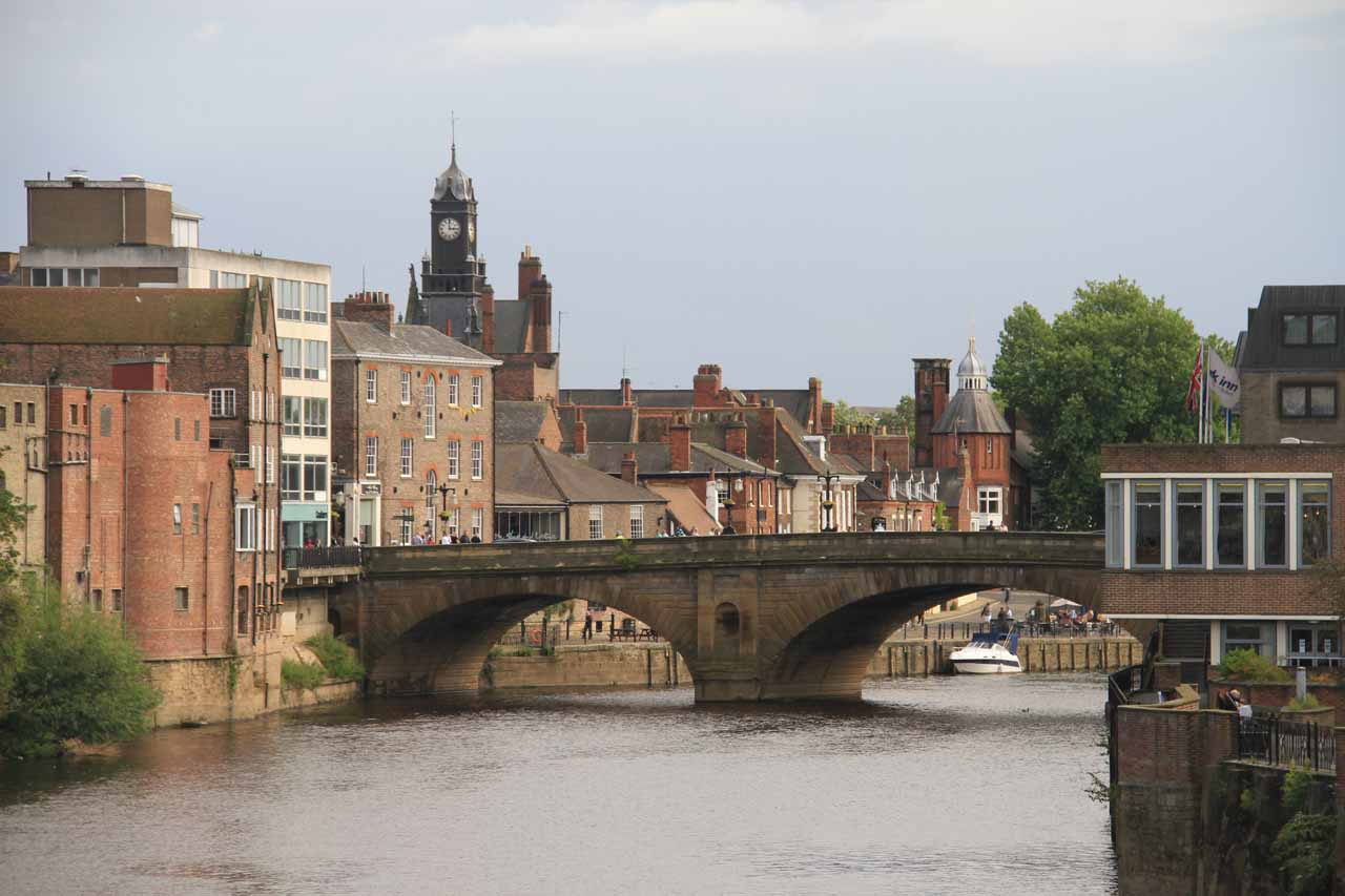 Looking over the River Ouse as we headed back for a siesta in York