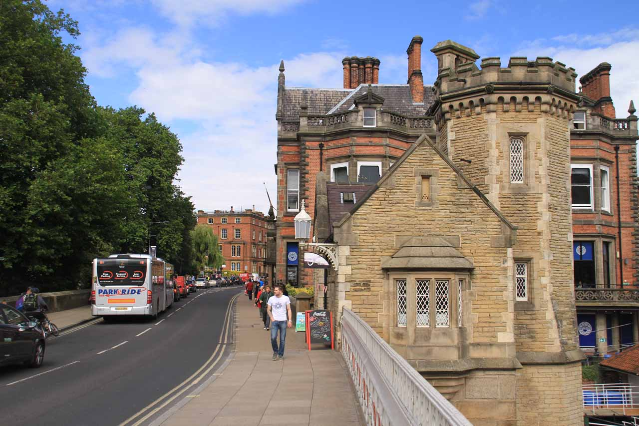 Interesting old buildings everywhere we went, even on this bridge over the River Ouse in York