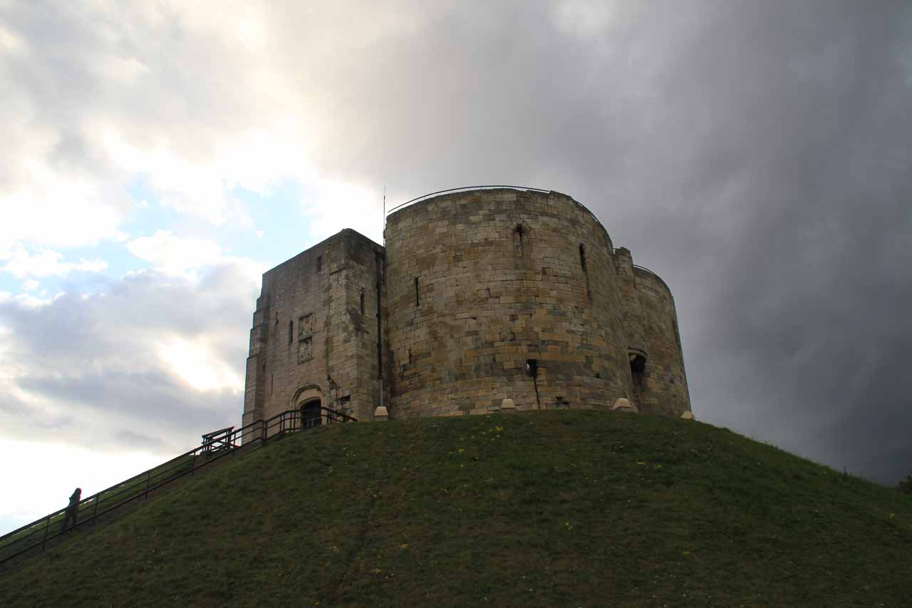 Another intriguing landmark in the city of York (southeast of the Yorkshire Dales) was Clifford's Tower