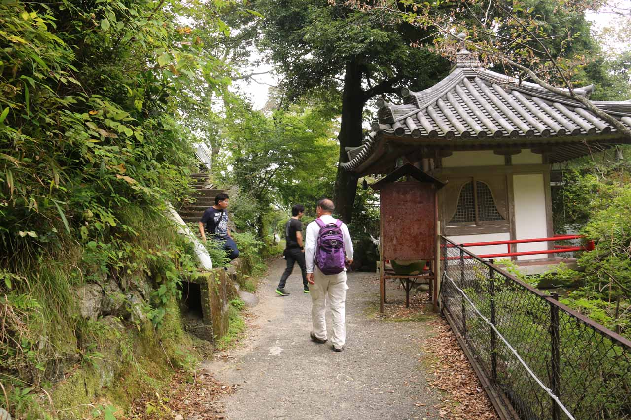 Dad passing by this small shrine again as he was about to go back up the steps to the left leading back to the car park