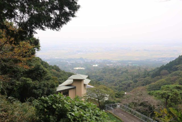 Yoro_Falls_083_10212016 - Looking out towards the hazy and industrialized plains of the greater Nagoya area from the shortest path to the Yoro Waterfall