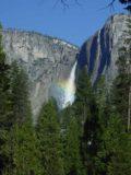 Yosemite_Falls_005_03202004 - Partial rainbow across Yosemite Falls from Stoneman Meadow