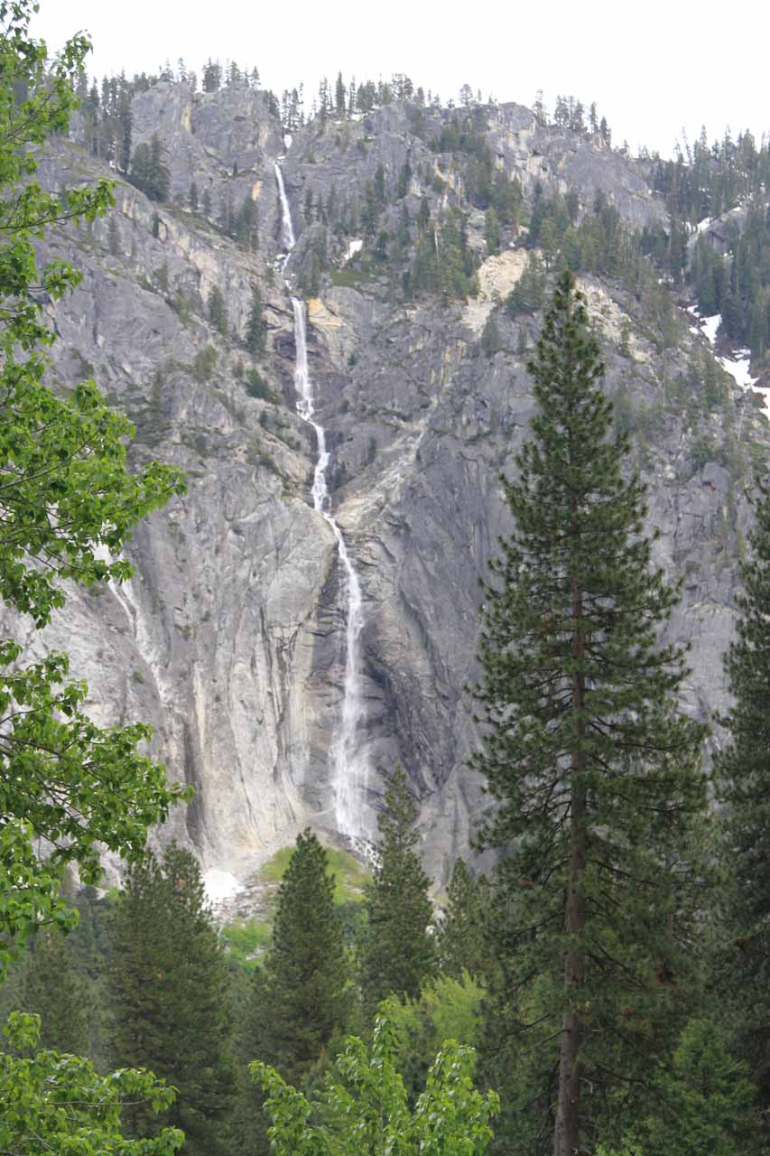 Almost direct view of the falls from near Leidig Meadow