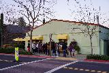 Yountville_008_02222020 - Looking back across the street at the context of the queue of people waiting to buy macarons at the Bouchon Bakery