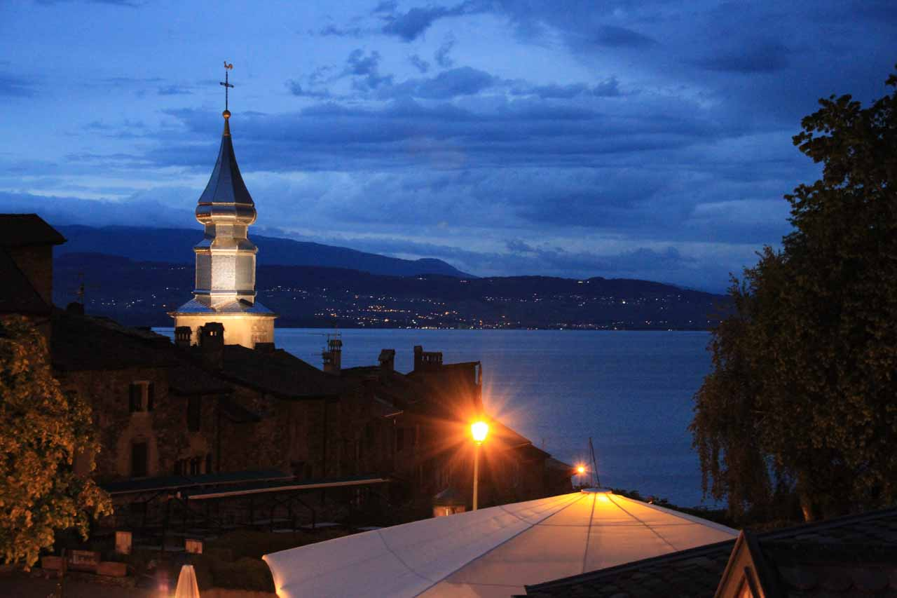 On the day we visited Cascade d'Arpenaz, we spent the next night at the charming town of Yvoire on the southern shores of Lake Geneva
