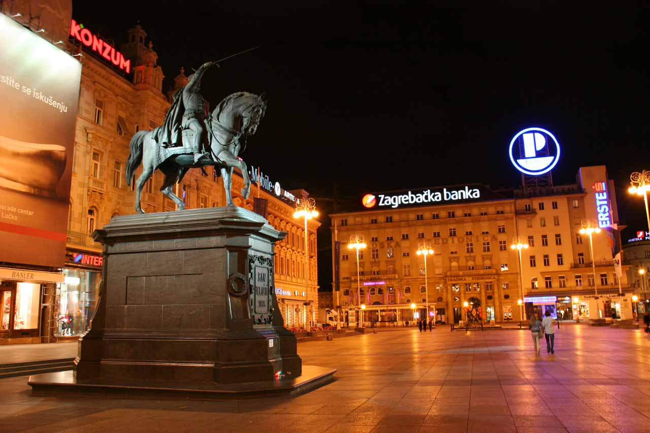 The main city square of Zagreb