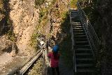 Zammer_Lochputz_053_07192018 - Tahia going ahead past these steps as we first went for the Zammer Lochputz Waterfall before backtracking to go up these steps