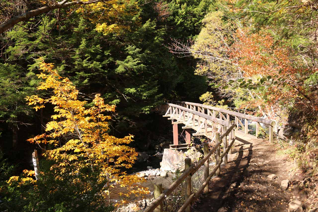 Once we reached the bottom of the descent, we then crossed this bridge over the Koonogawa