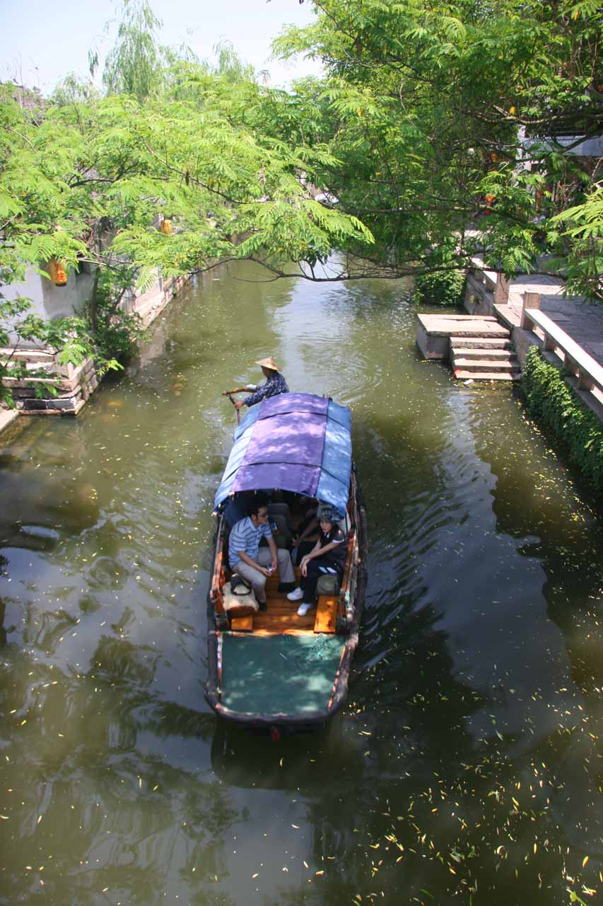 Gondola rides on the canal in Zhouzhuang