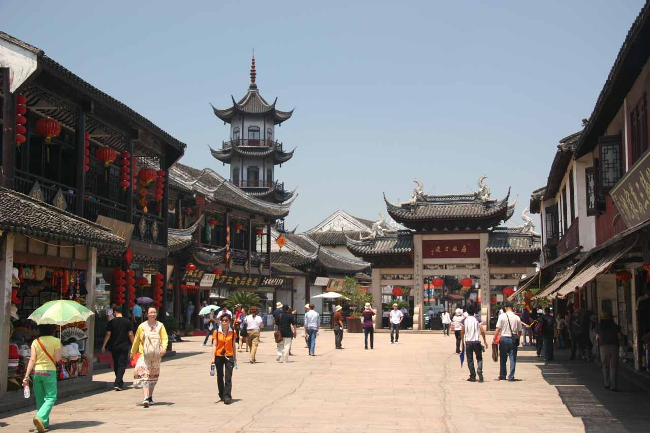 Leaving Zhouzhuang town