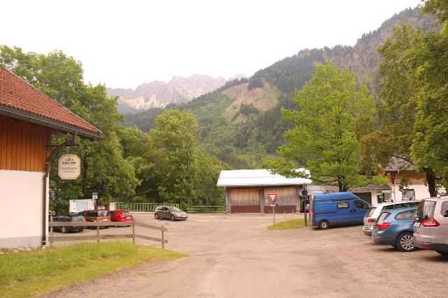 Zipfielsbach_Waterfalls_019_06242018 - The paid car park between the Festhall / Fire Department and the Hinterstein Church