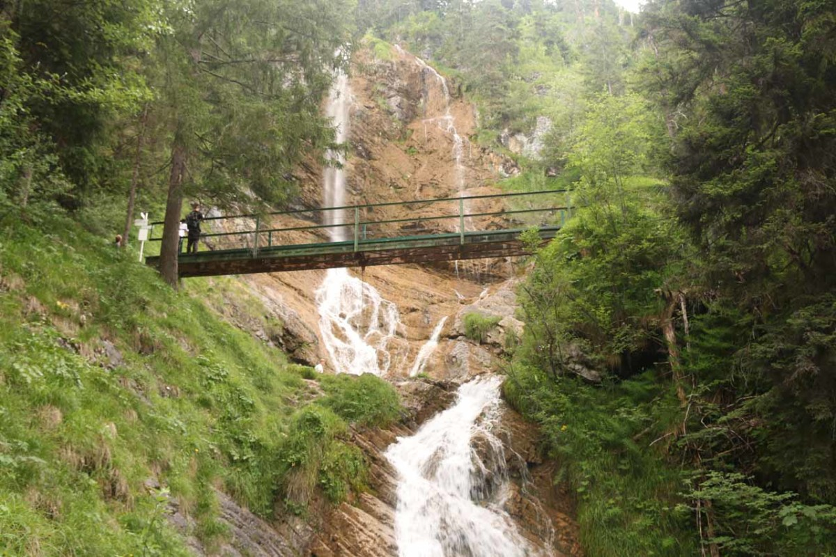 One of the drops of the Zipfelsbach Waterfall (Zipfelsbach Wasserfall)