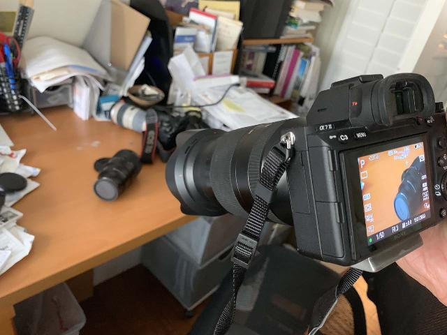 For a supposedly flexible zoom lens, the 24-240mm Sony Lens seemed to require a pretty long distance before it could finally put that lens resting on the table into auto-focus
