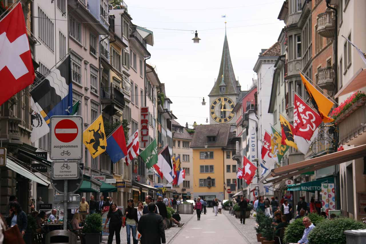 When we visited Rhine Falls and Stein am Rhein, we had based ourselves out of the city of Zurich, which was a great city for sightseeing as well as connecting to places outside the city