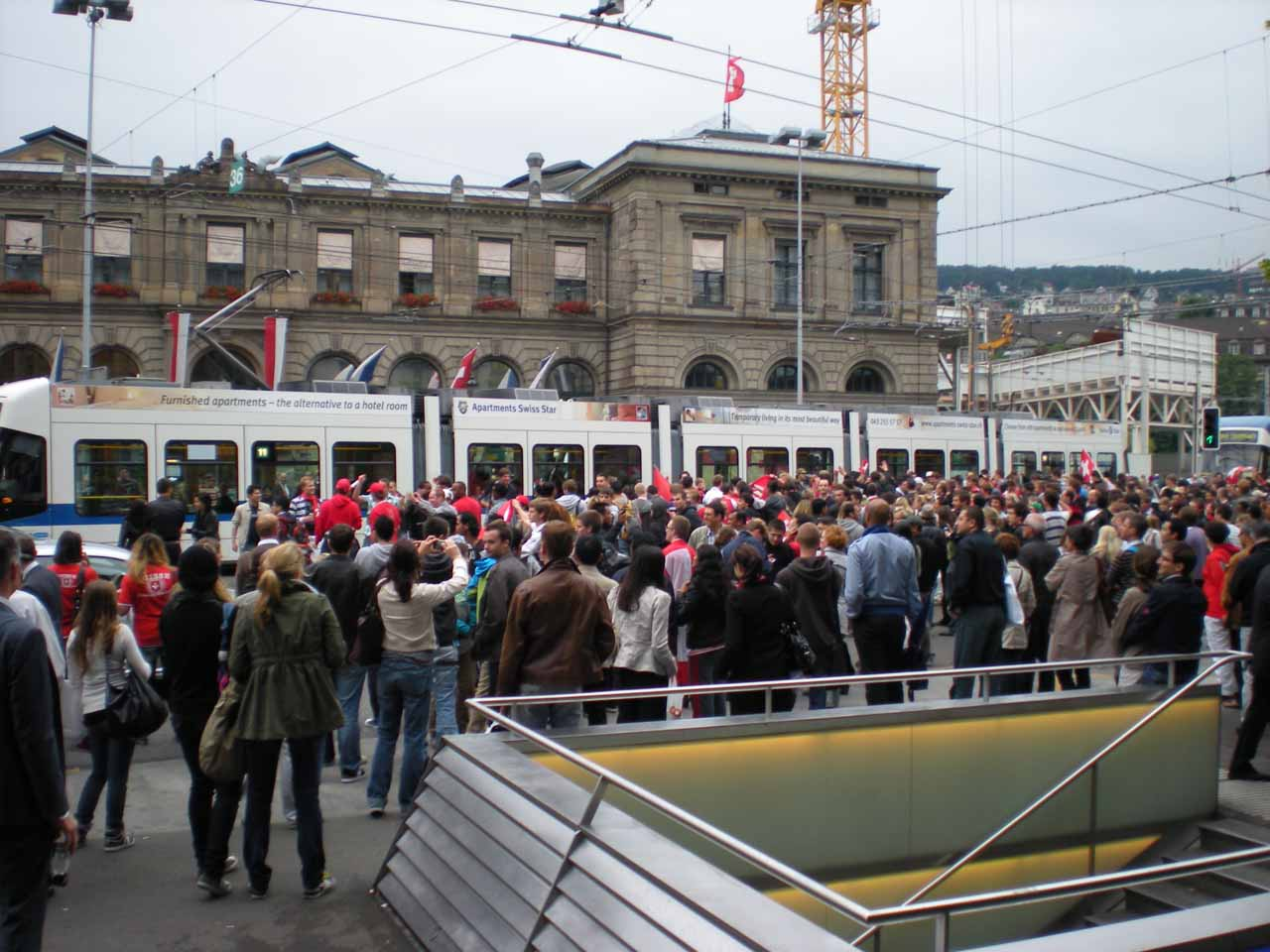 In Zurich during the World Cup celebration