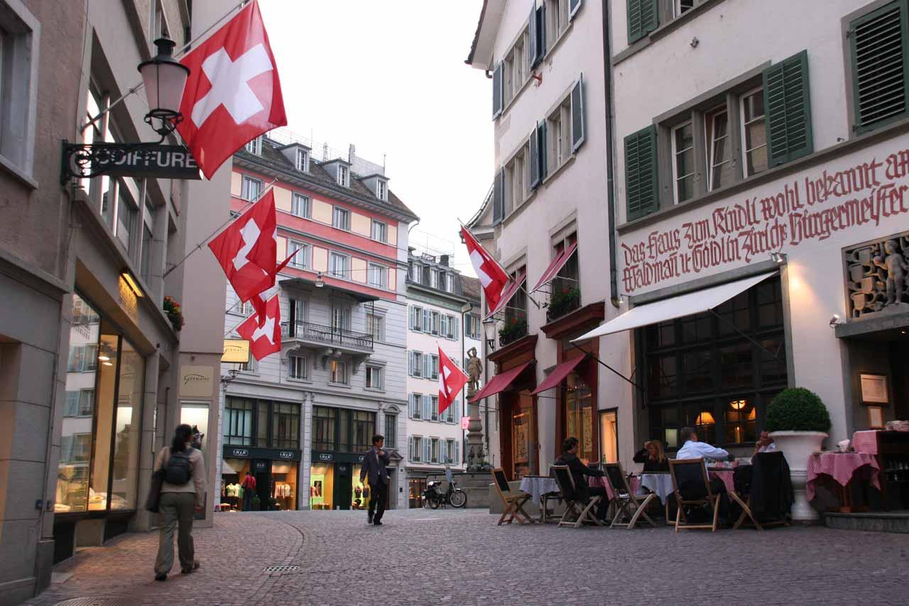 Zurich after 9pm