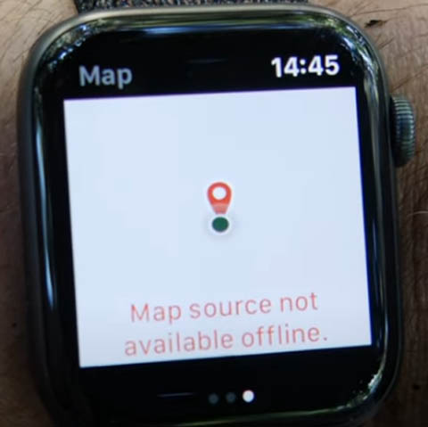 Poor integration of Gaia GPS maps with the Apple Watch without a network connection