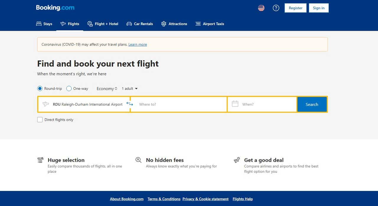 It wasn't until I started writing this article that I realized Booking.com also does flights. Still we avoid using a middle-man for flights as much as possible