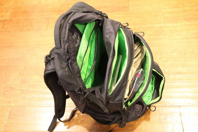 Before buying this Osprey day pack, we examined and tried it on so we had a better idea of the pockets, zipper sturdiness, hip belts, shoulder straps, etc.