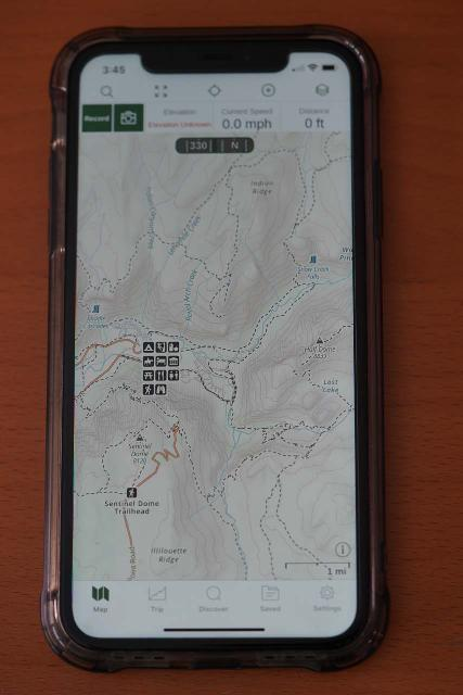 Gaia GPS App on my iPhone