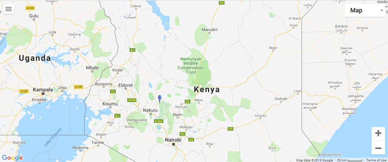 Kenya Waterfalls Map
