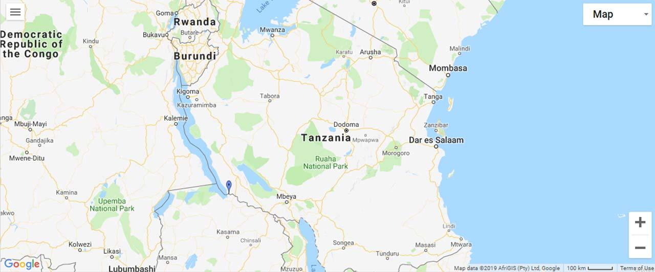 Tanzania Waterfalls Map