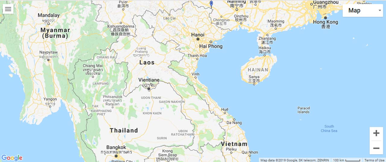 Vietnam Waterfalls Map