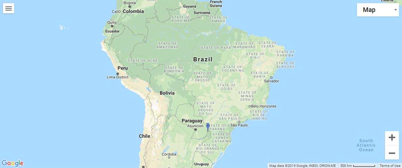 Brazil Waterfalls Map