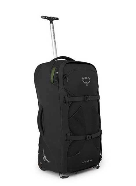 If I had to check in my backpack or luggage due to its size, then I mind as well use something like the Osprey Farpoint 65 Wheeled Luggage