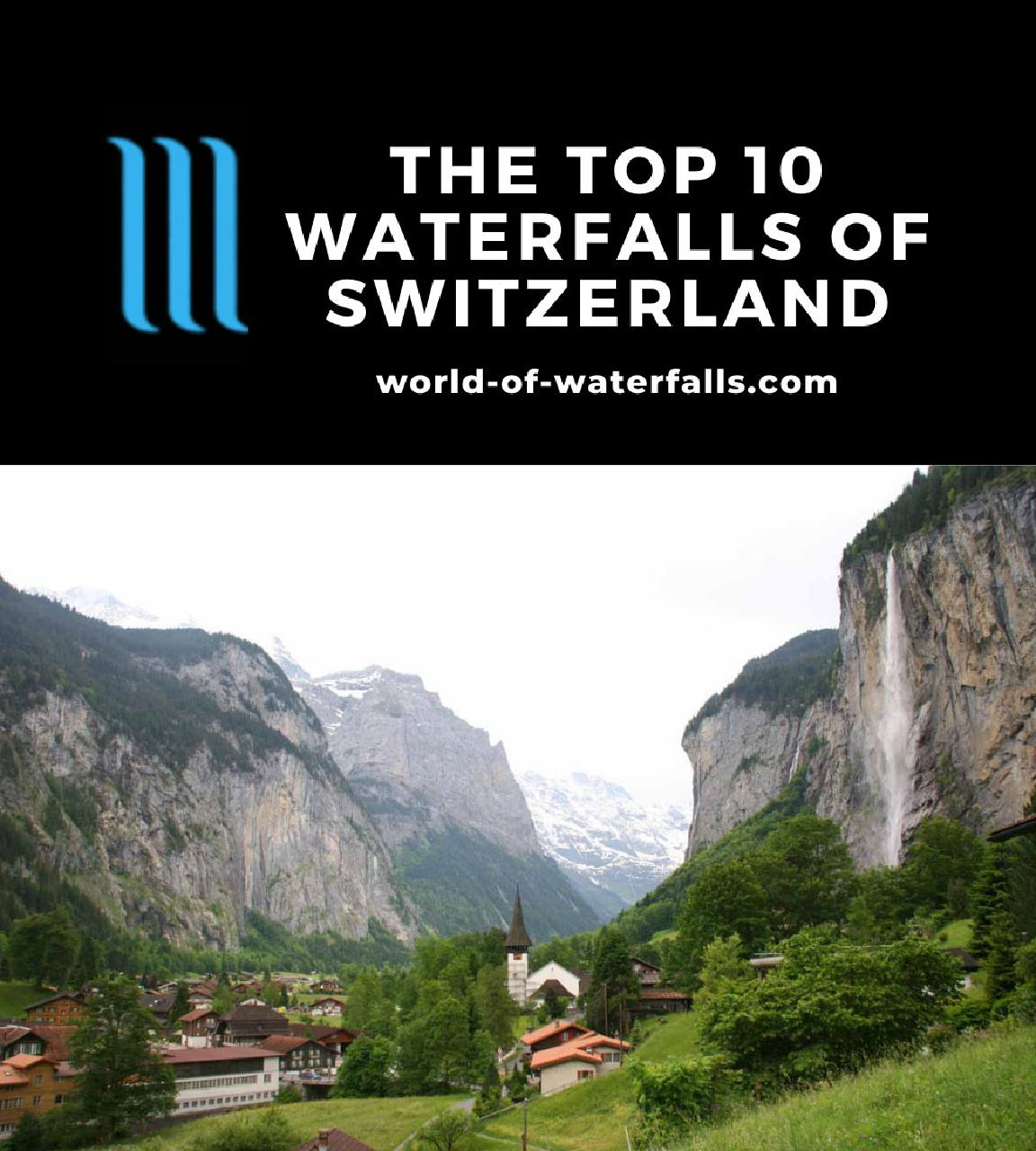 The Top 10 Waterfalls of Switzerland