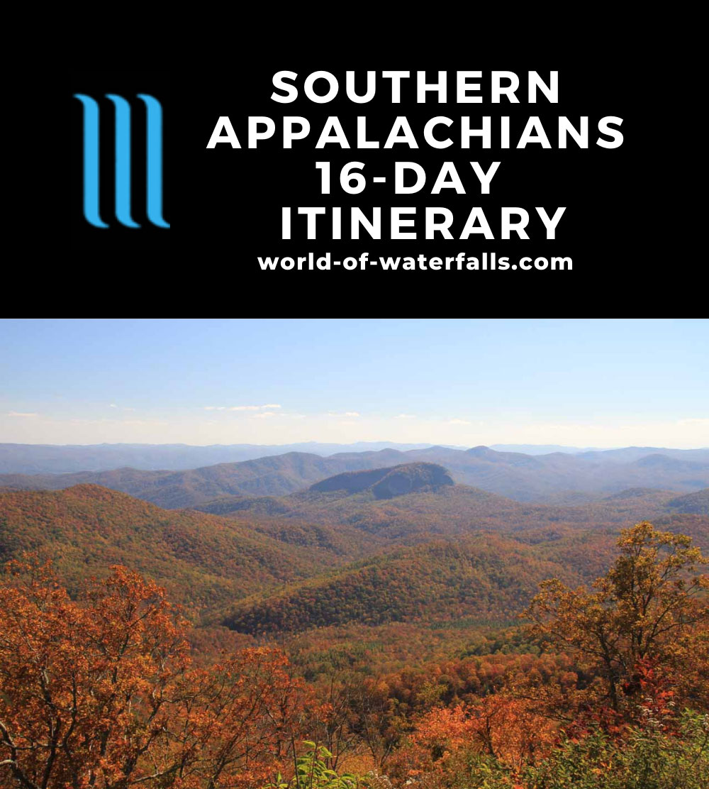 Southern Appalachians 16-Day Itinerary