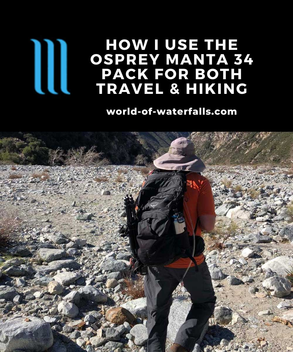 How I Use My Osprey Manta 34 As A Travel and Hiking Backpack