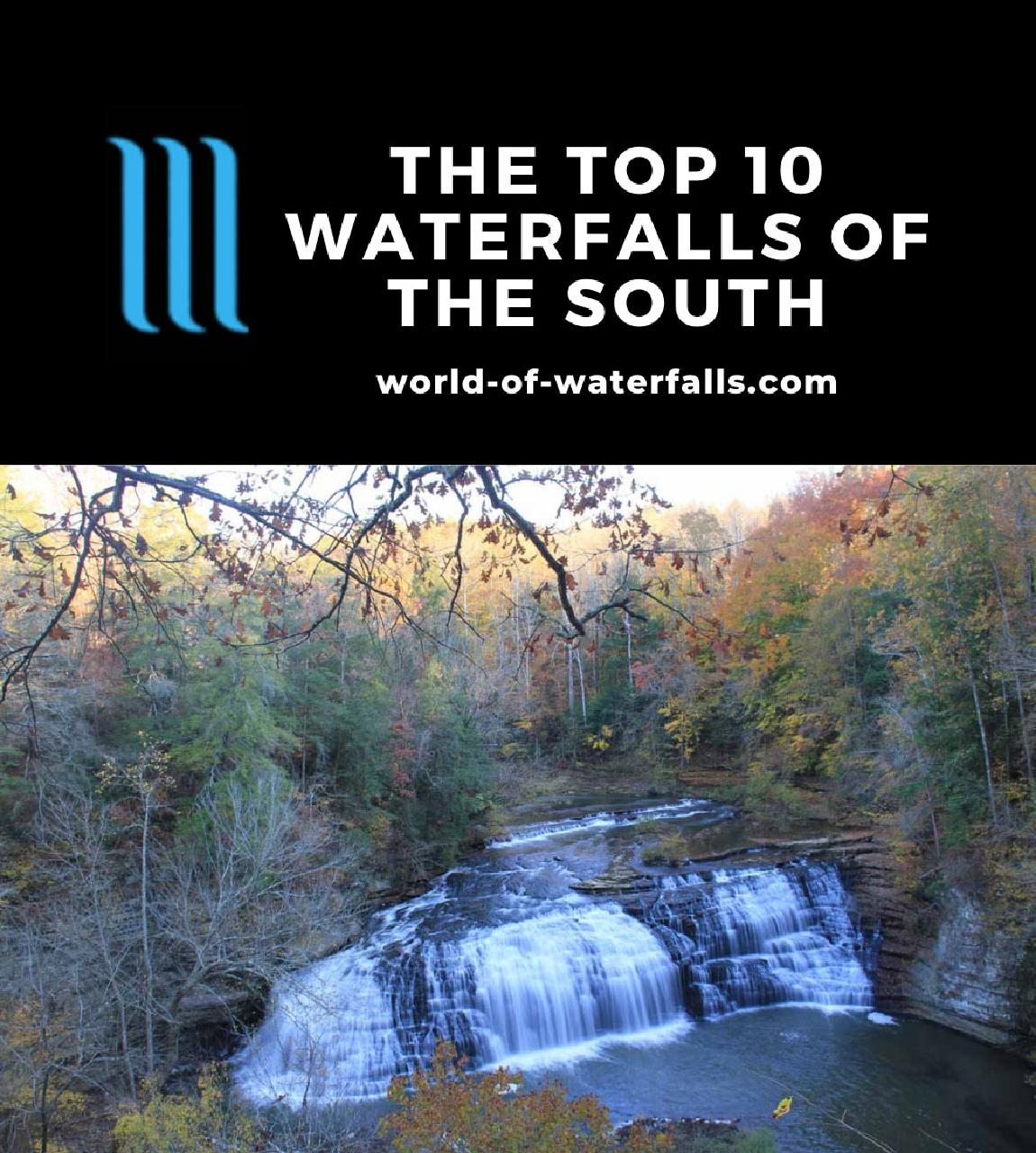 The Top 10 Waterfalls of the South
