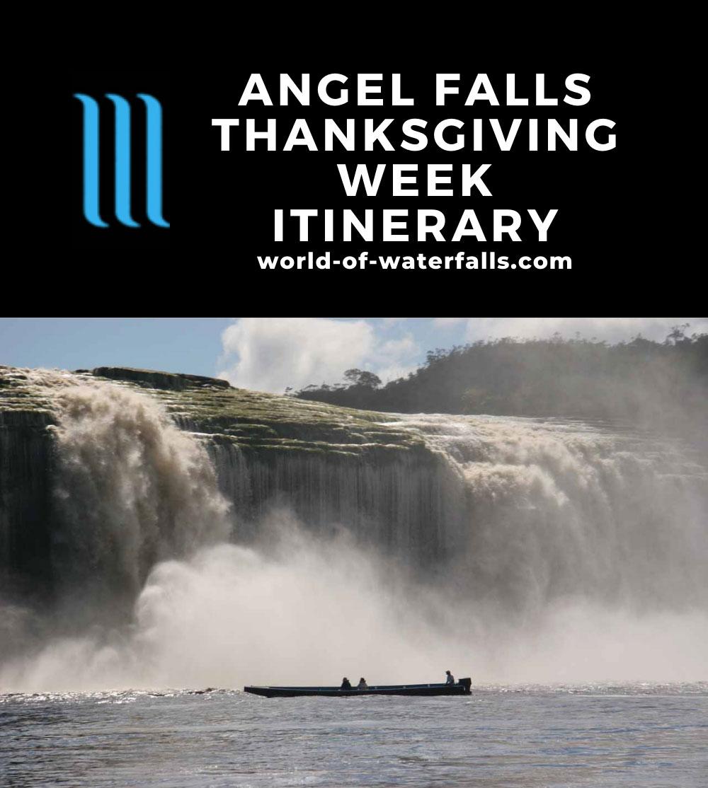 Angel Falls Thanksgiving Week Itinerary