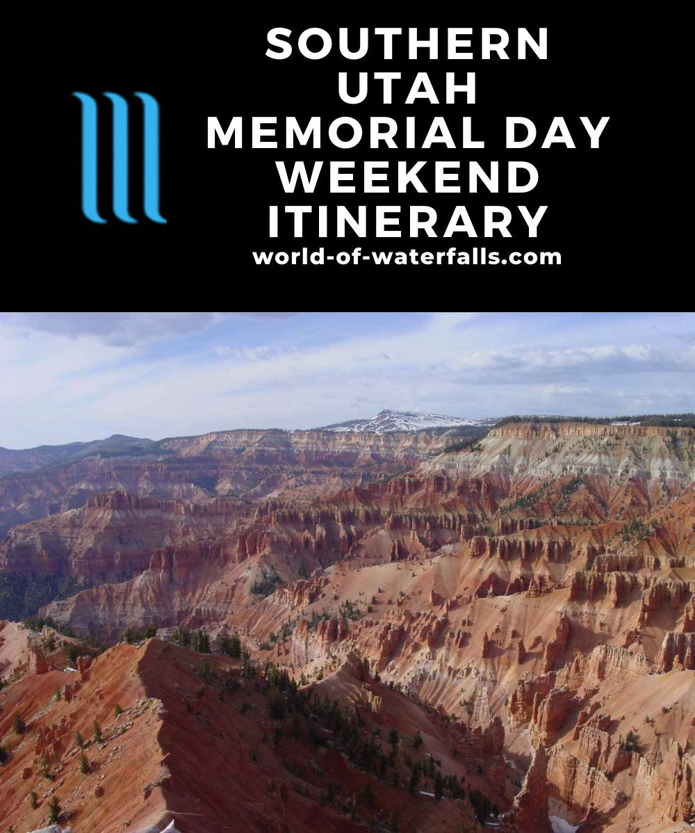 Southern Utah Memorial Day Weekend Itinerary