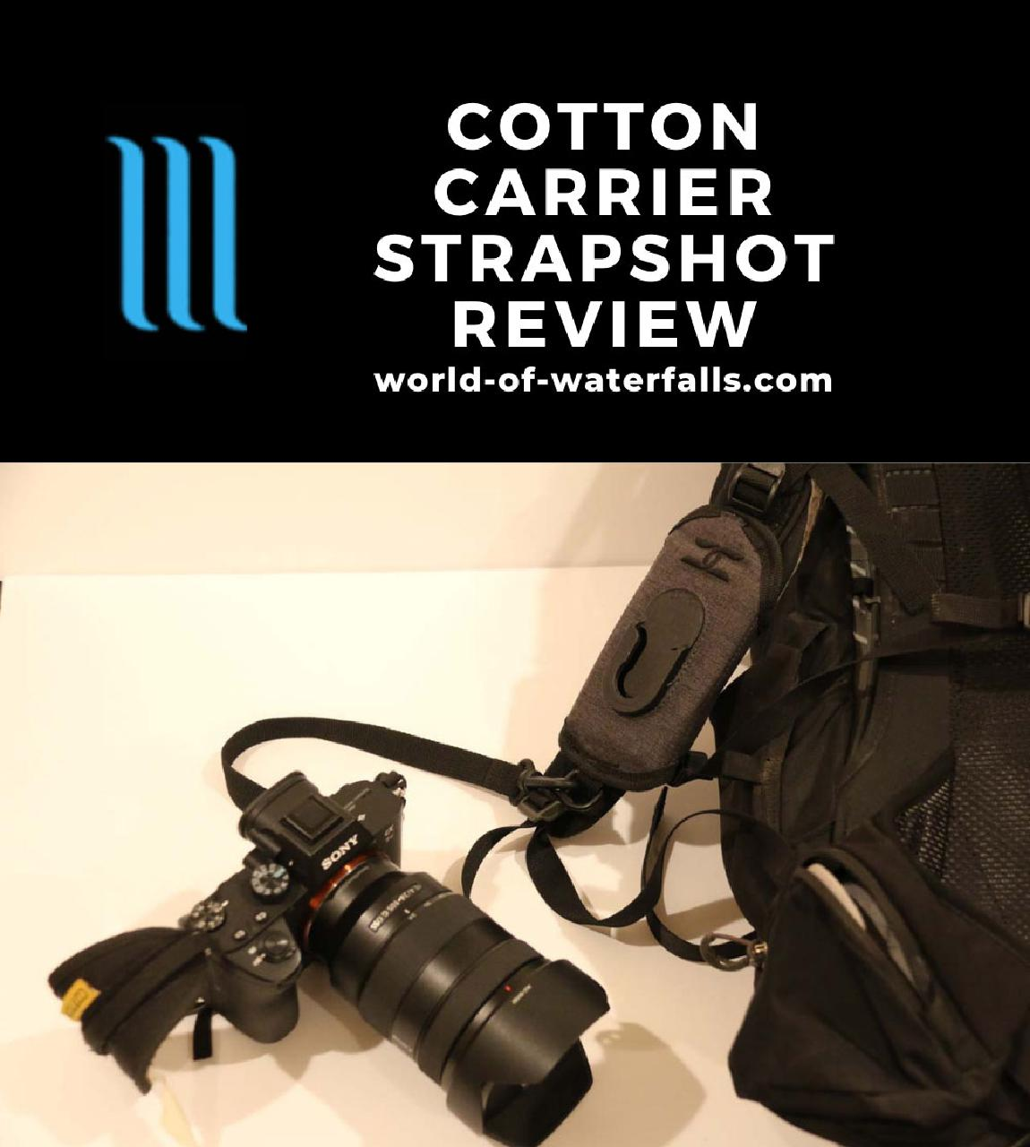 The Cotton Carrier CCS G3 Strapshot Holster with my camera tethered to it