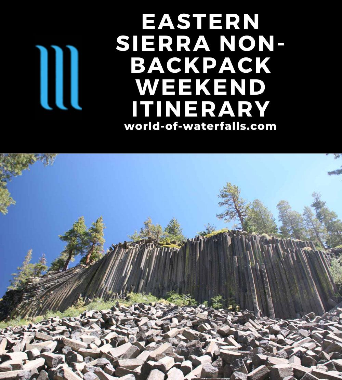 Eastern Sierra Non-Backpacking Weekend Itinerary
