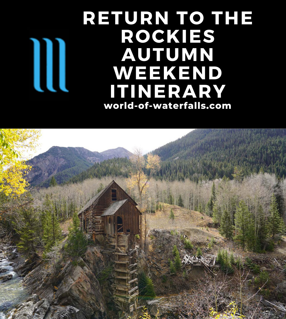 Rocky Mountains Autumn Long Weekend Road Trip Itinerary