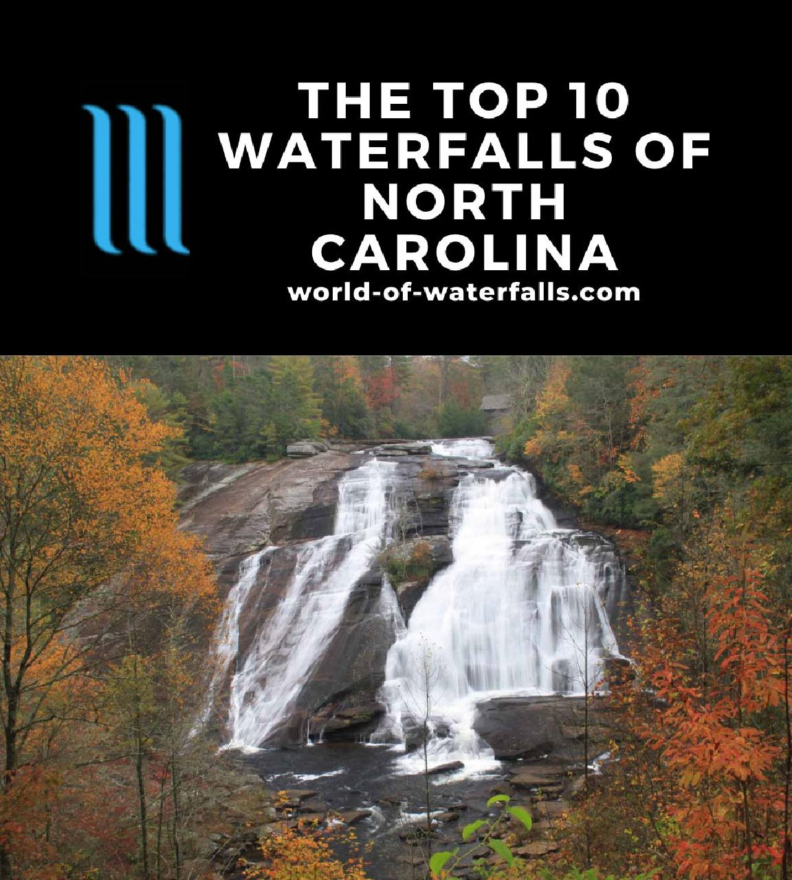 The Top 10 Waterfalls of North Carolina