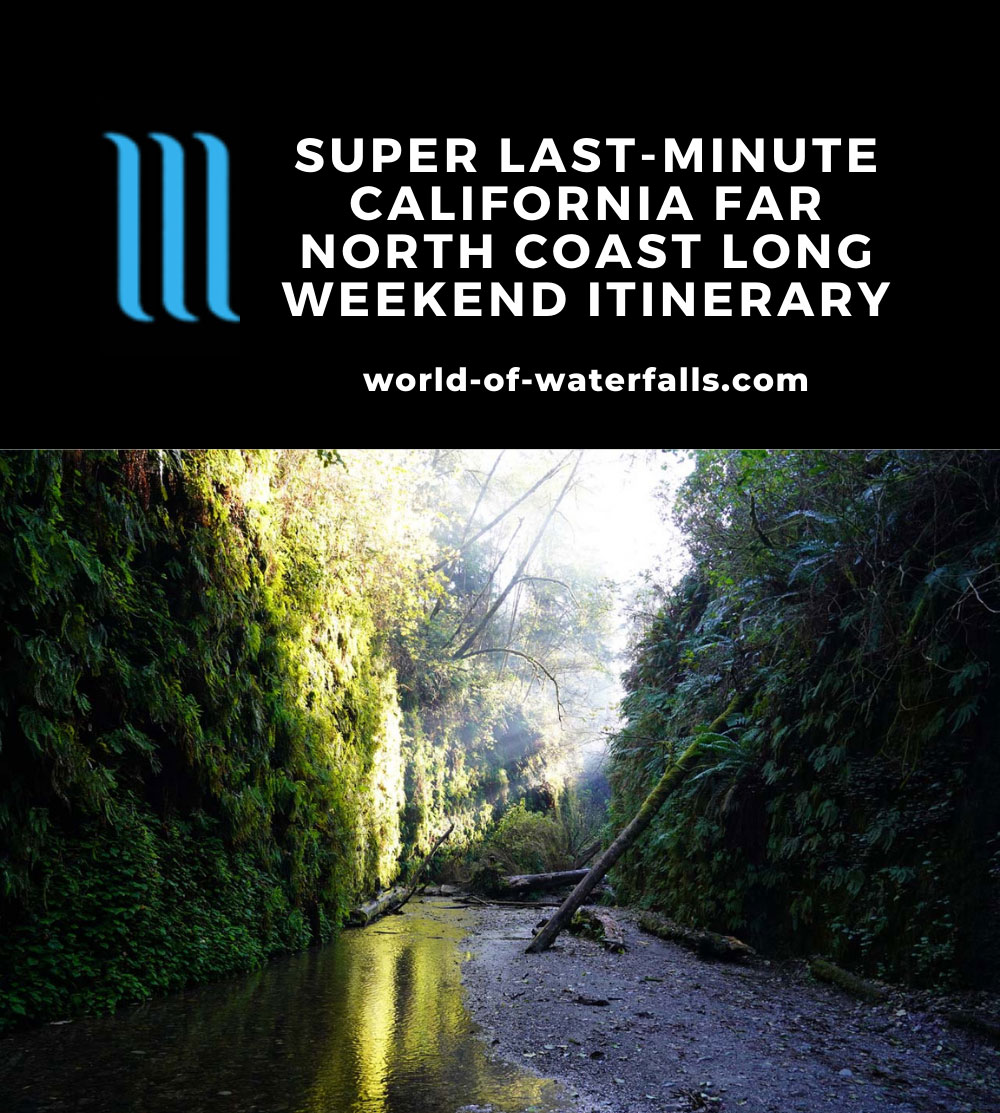Super Last Minute California Far North Coast Long Weekend Road Trip Itinerary