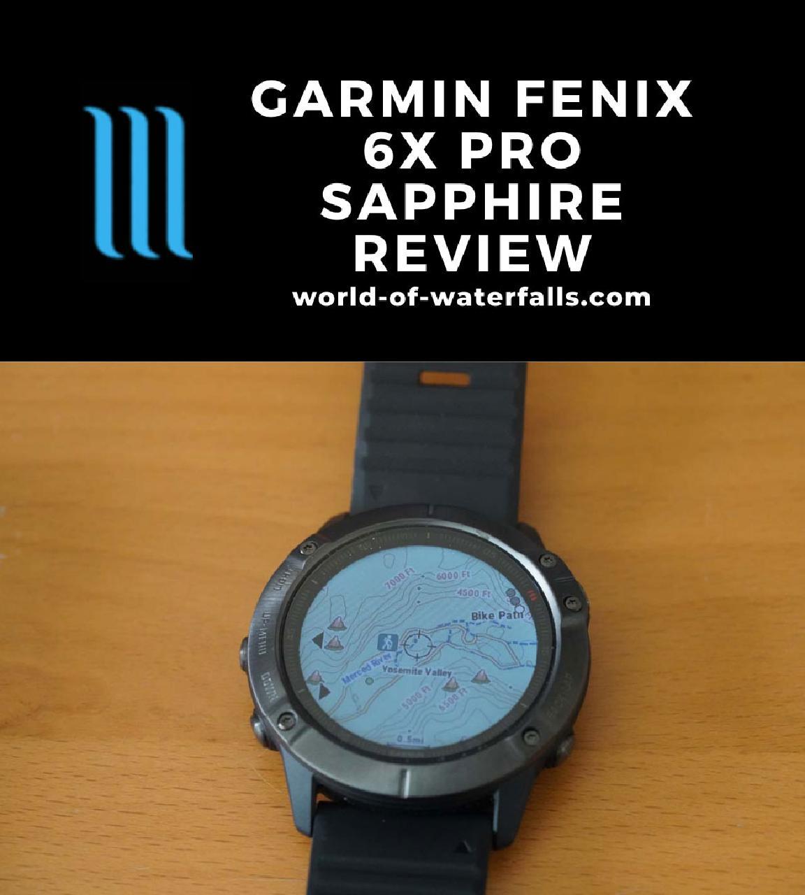 The Garmin Fenix 6X Pro Sapphire Smart Watch