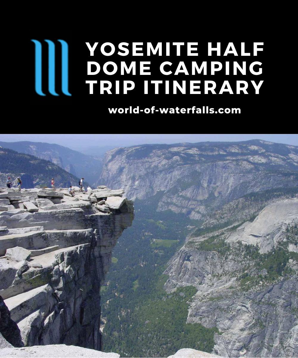 Yosemite Half Dome Camping Trip Itinerary