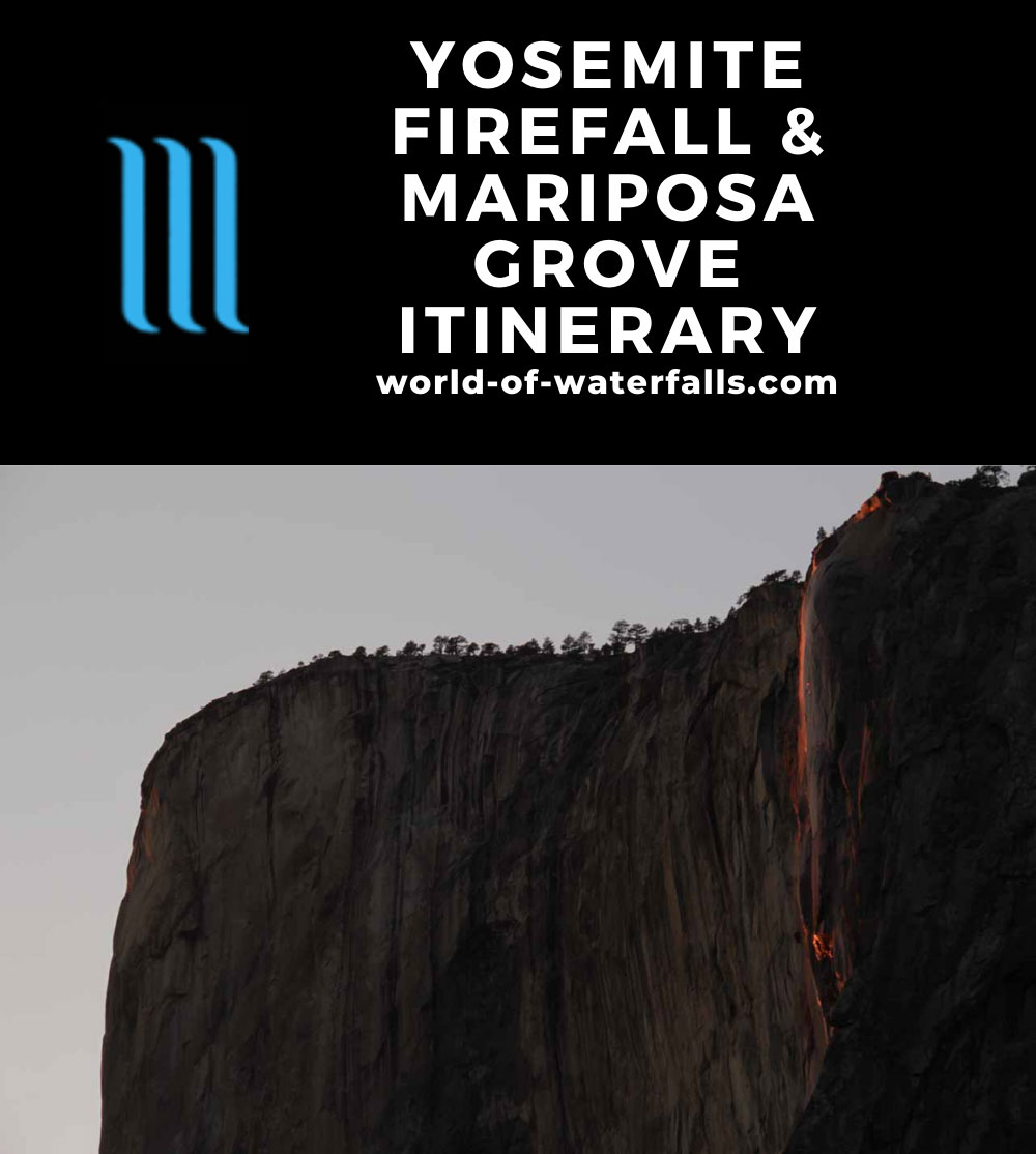 Yosemite Firefall and Mariposa Grove Weekend Itinerary